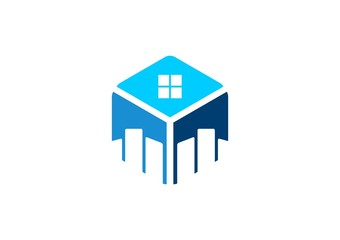 house,real estate,logo,emblem,home,city,cube,company,business