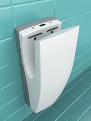 Vertical hand dryer