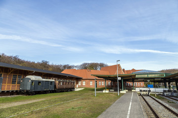 famous old train station in Seebad Heringsdorf