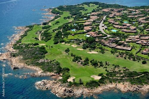 canvas print picture Sardegna-Golf club