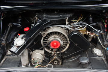 Engine of vintage car