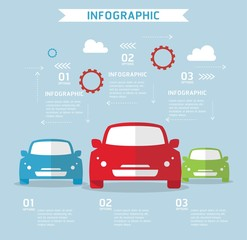 Travel and transport infographics