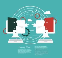 Online communication concept
