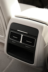 Modern car interior. Air conditioner, close-up