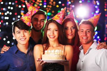 Birthday party in club