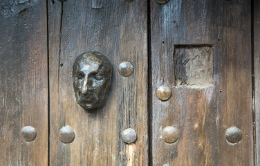 face on a door