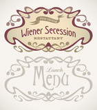 Secession styled labels poster