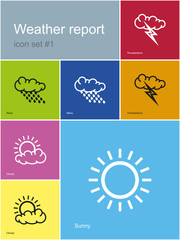 Weather report icons