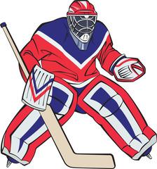 Ice hockey goalkeeper