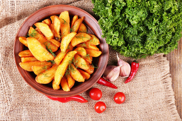 Homemade fried potato