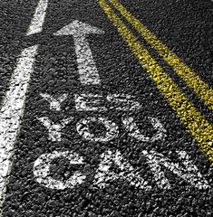 yes you can on the asphalt road