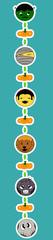 Halloween hanging characters
