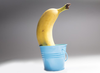 Banana in a bucket
