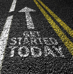 get started today on the asphalt road
