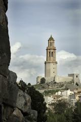 Jerica Castellon village skyline in Alto Palancia of Spain Valen