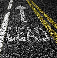 lead the way on the asphalt road