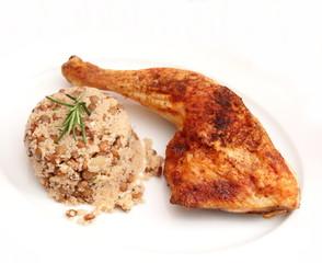 Hühnchen mit Linsensalat