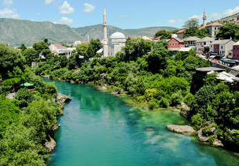 Mostar and Neretva river