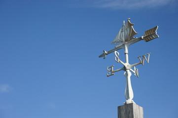 帆船の風見鶏