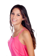 Atrractive young girl in pink