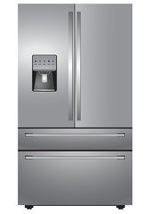 Stainless steel french four door refrigerator