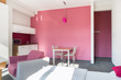 canvas print picture - Pink studio house