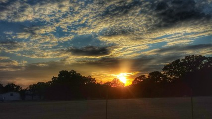 Texas pasture sunset 2