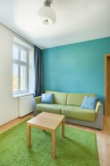 Sofa in bright apartment