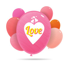 Love Colorful Balloons
