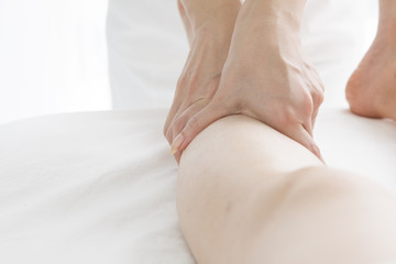 Massage of the calf of leg