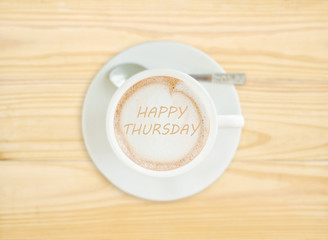 Happy Thursday on Coffee Cup