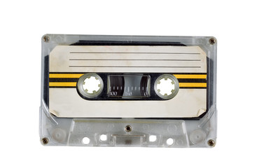 Old Cassette Tape on White