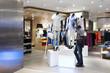 cloth store interior - 71623187