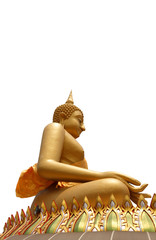 Side view of Seated buddha image