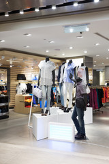 cloth store interior