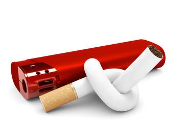 Knoten in Zigarette
