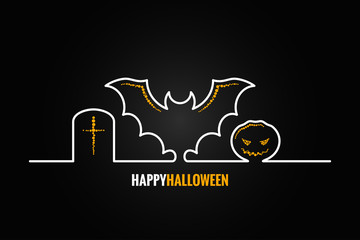 halloween pumpkin bat design background