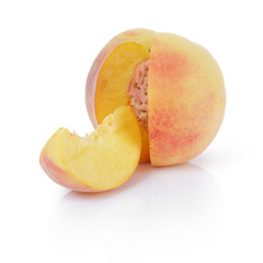 ripe peaches with segment