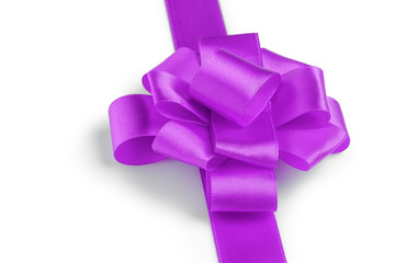 purple ribbon bow angle photo