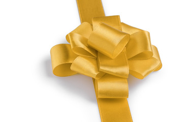 yellow ribbon bow angle photo