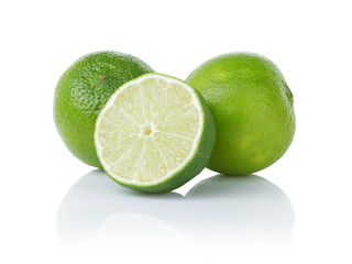ripe limes with half