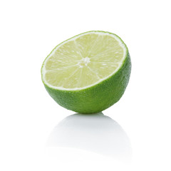 half of ripe lime