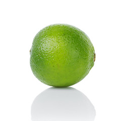 single whole ripe lime