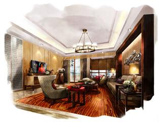 rendering painting interior,rendering living room
