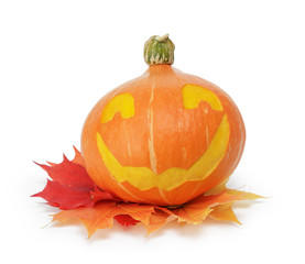 halloween pumpkin with funny face