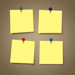 blank yellow reminder sticky note