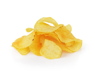 heap of potato chips with paprika