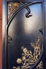 Panneau de bois décoré art-déco