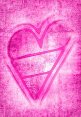 pinkfarbenes Herz...