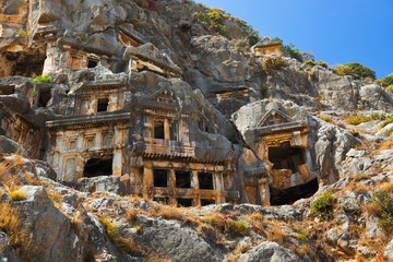 Ancient town in Myra, Turkey
